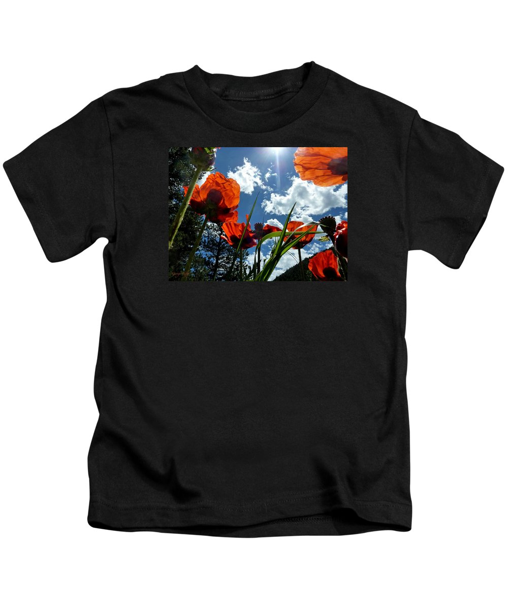 Red White And Blue Kids T-Shirt featuring the photograph Red White And Blue by George Tuffy