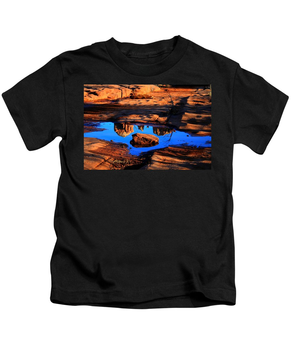 Arizoan Kids T-Shirt featuring the photograph Rocky Road by Miles Stites