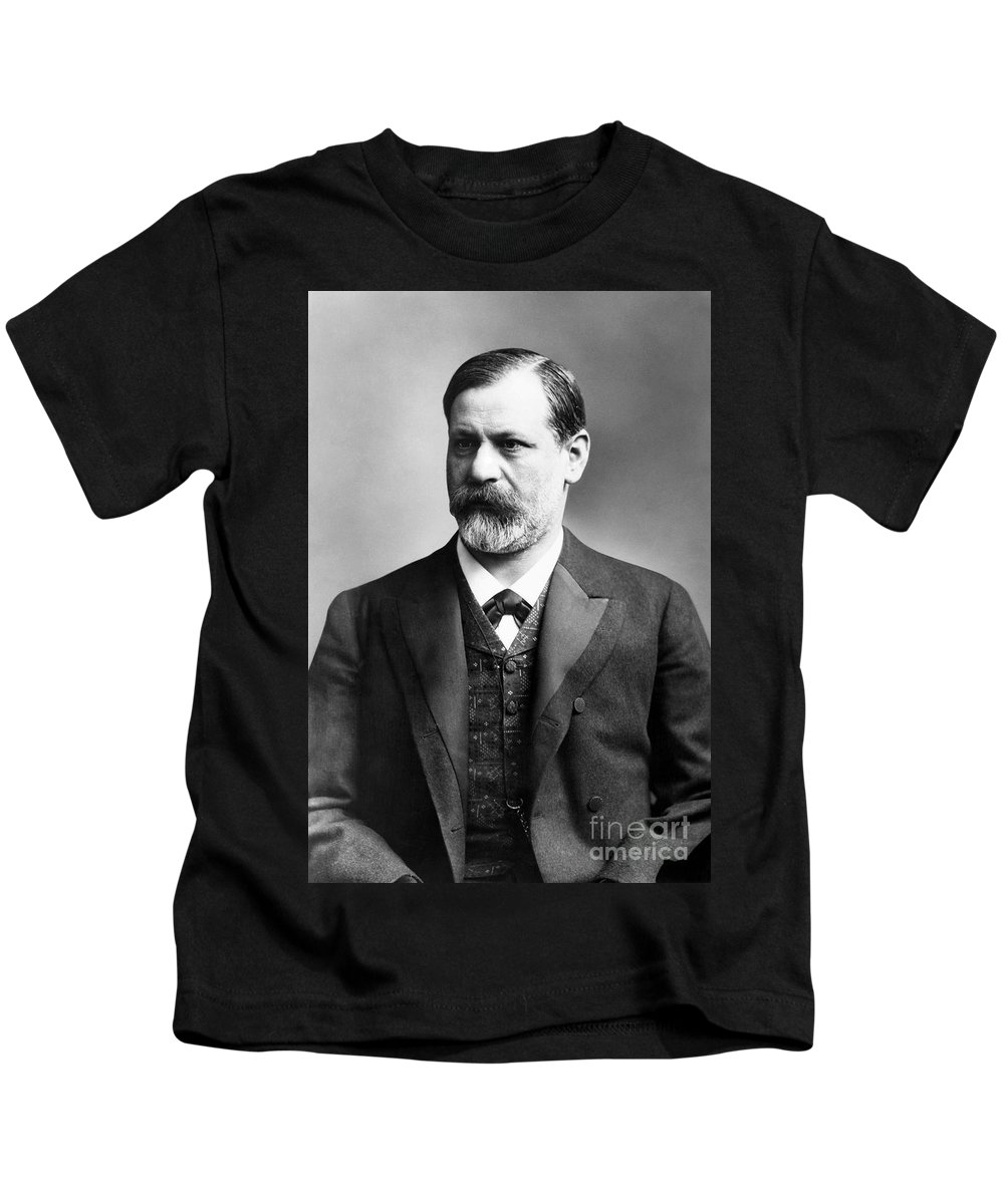 19th Century Kids T-Shirt featuring the photograph Sigmund Freud (1856-1939) by Granger