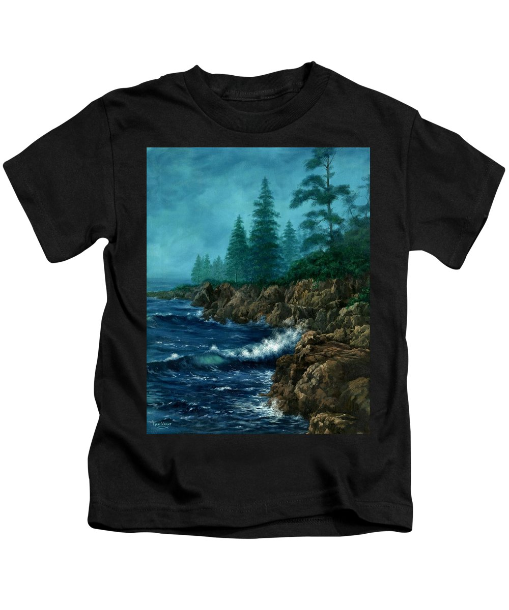 Landscape Kids T-Shirt featuring the painting Solitude by Lynne Wright