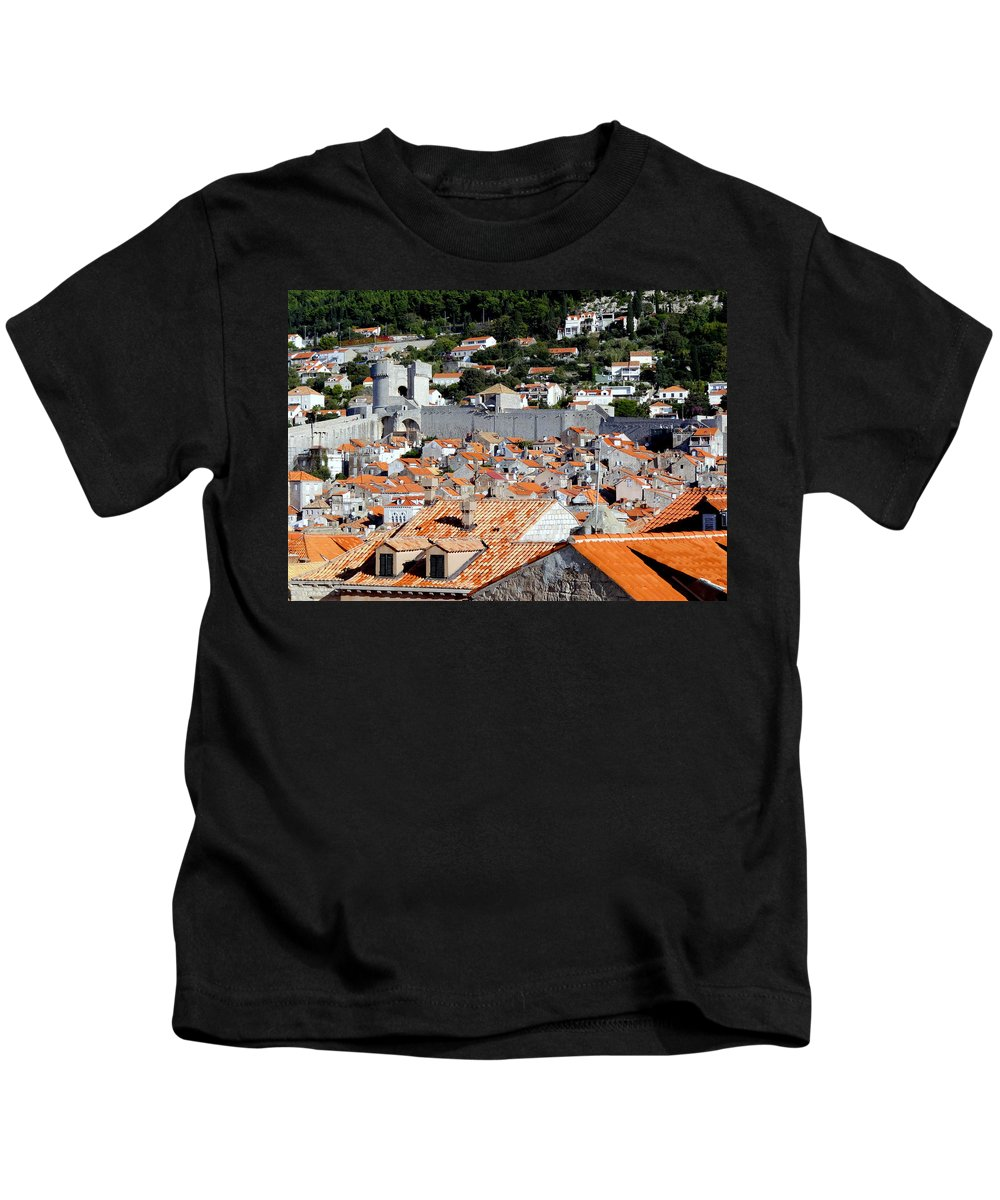 Dubrovnik. Croatia Kids T-Shirt featuring the photograph Views Of Dubrovnik Croatia by Richard Rosenshein