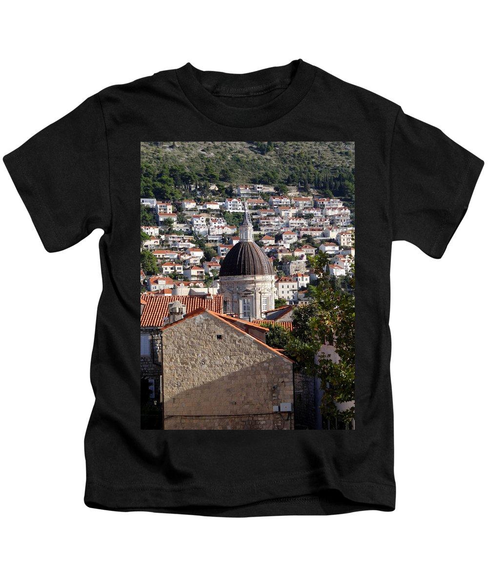 Dubrovnik Kids T-Shirt featuring the photograph Views Of Dubrovnik Croatia by Richard Rosenshein