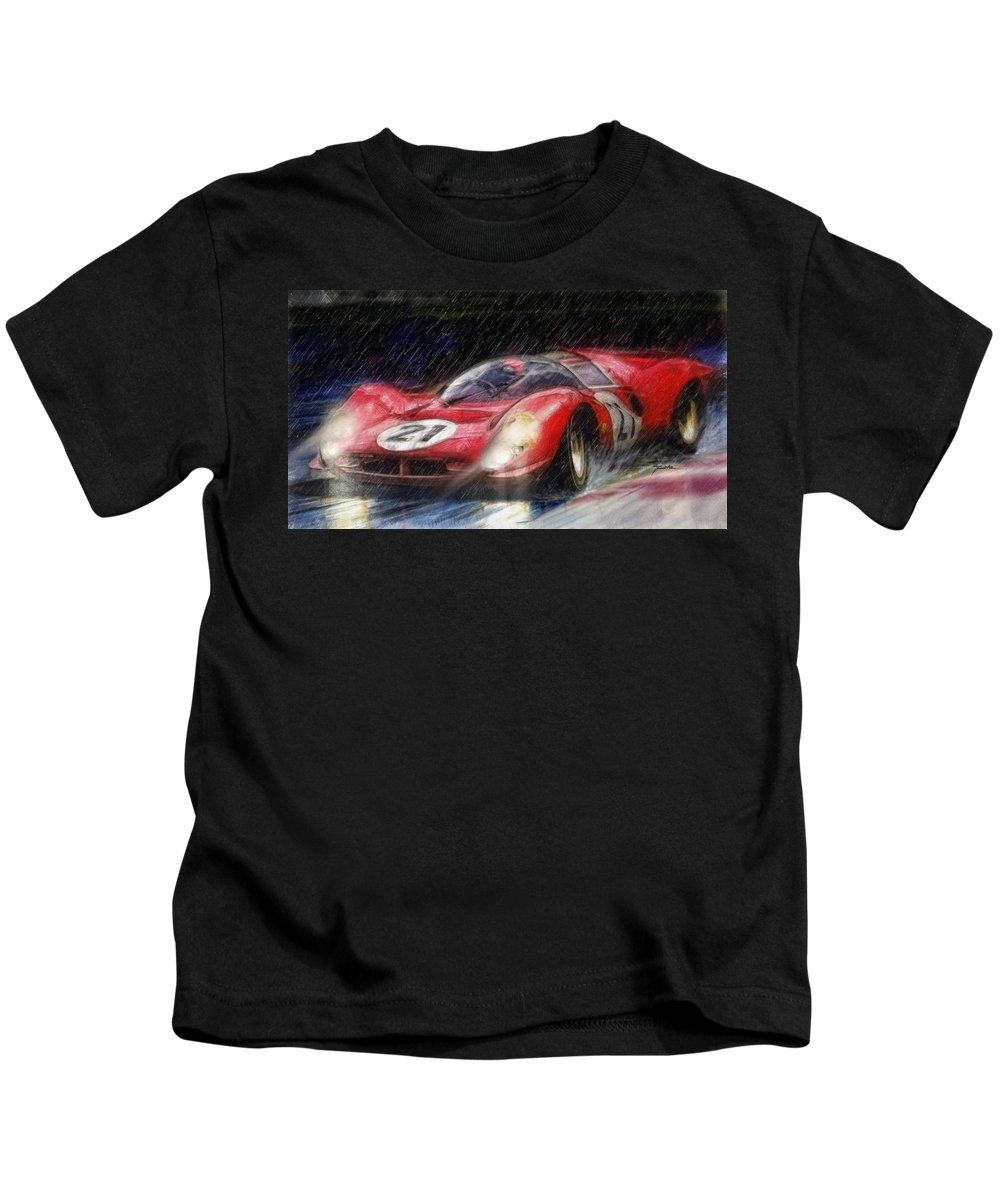 Porsche Kids T-Shirt featuring the painting 330p4 by Tano V-Dodici ArtAutomobile