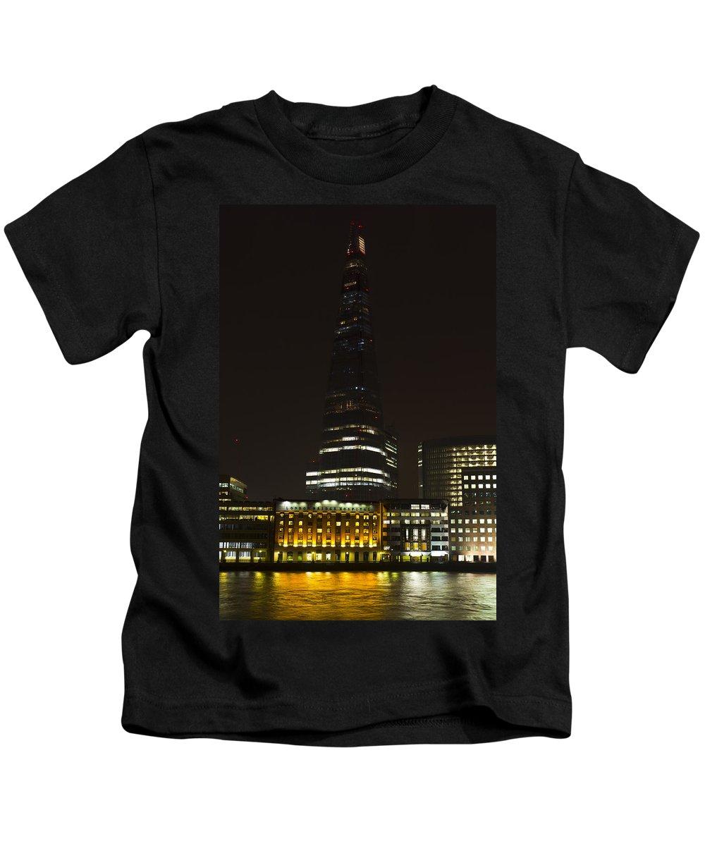 The Shard Kids T-Shirt featuring the photograph The Shard London by David Pyatt