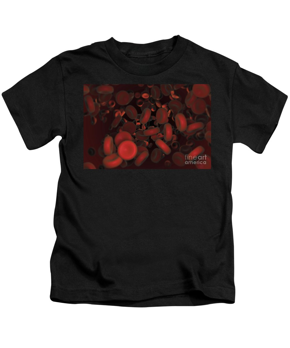 Cells Kids T-Shirt featuring the photograph Red Blood Cells by Science Picture Co