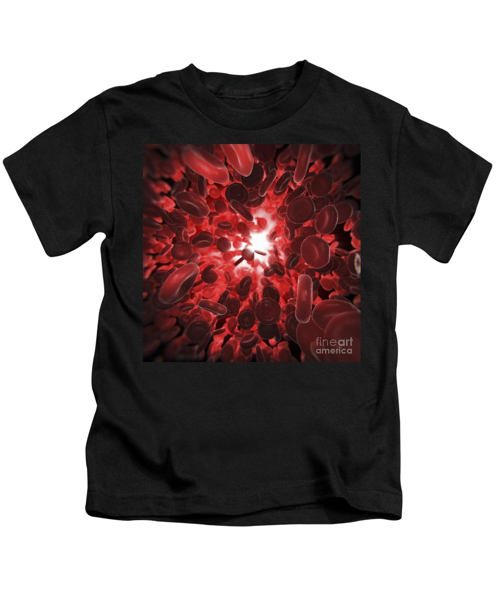 Digitally Generated Image Kids T-Shirt featuring the photograph Red Blood Cells by Science Picture Co