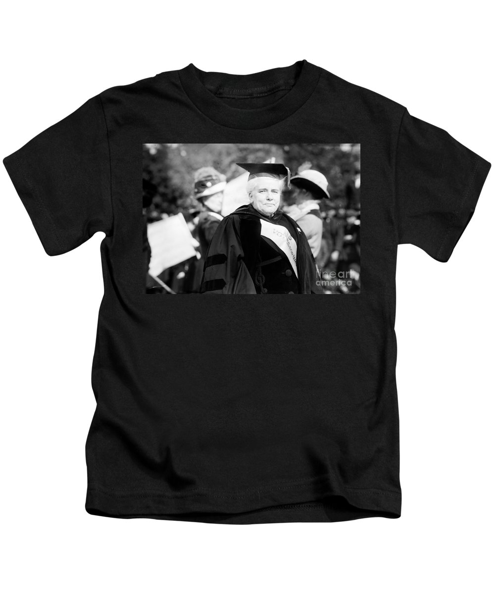 1912 Kids T-Shirt featuring the photograph Anna Howard Shaw by Granger