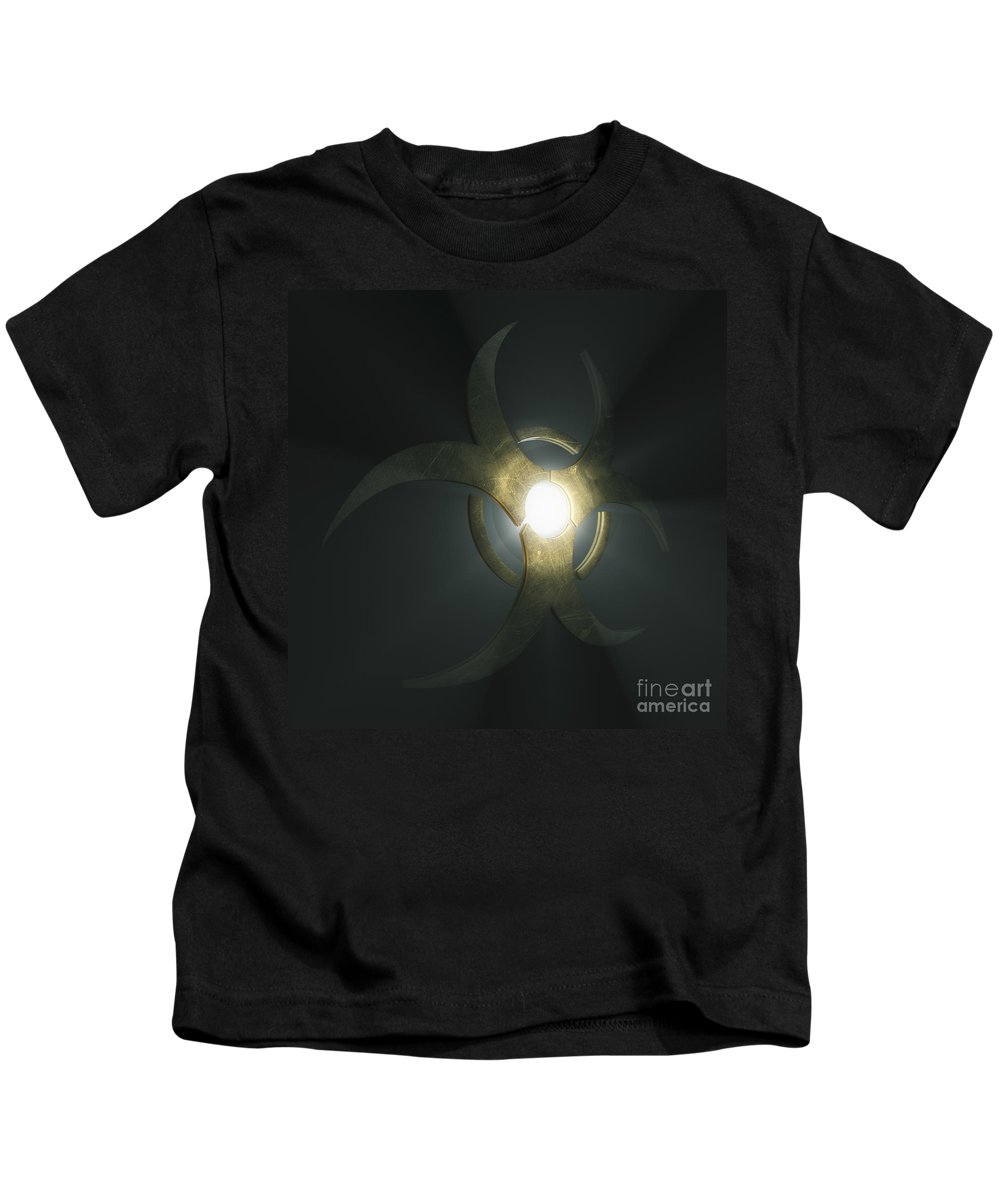 Biological Threat Kids T-Shirt featuring the photograph Biohazard Symbol by Science Picture Co