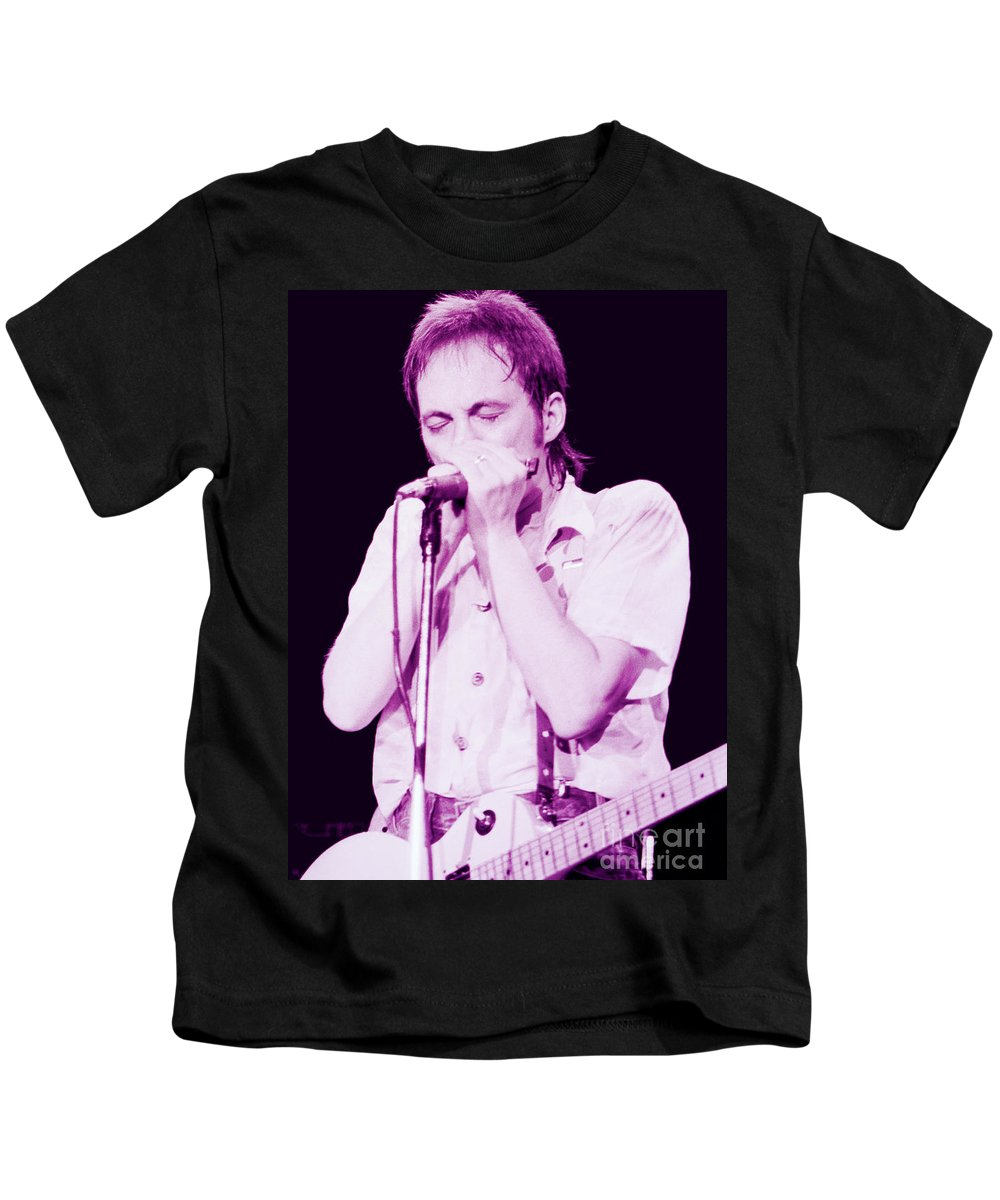Steve Marriott Kids T-Shirt featuring the photograph Steve Marriott - Humble Pie At The Cow Palace S F 5-16-80 by Daniel Larsen