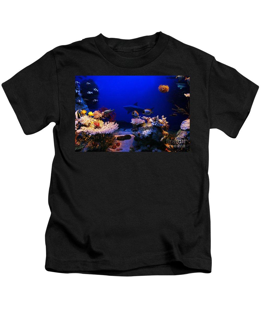 Underwater Kids T-Shirt featuring the photograph Underwater Scene by Michal Bednarek