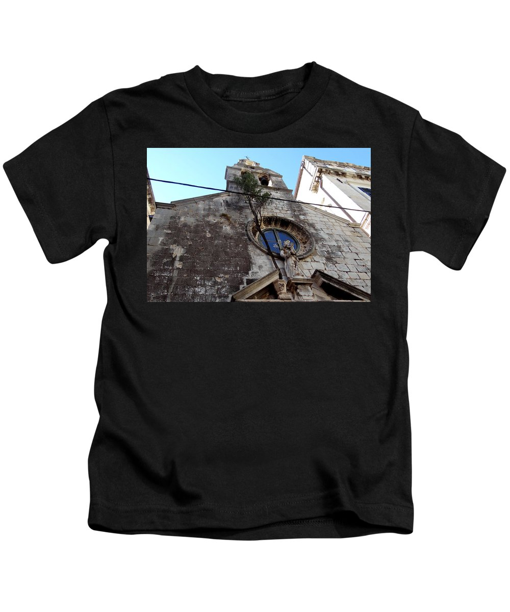 Dubrovnik. Croatia Kids T-Shirt featuring the photograph Views Of Dubrovnik Croatia by Richard Rosenshein