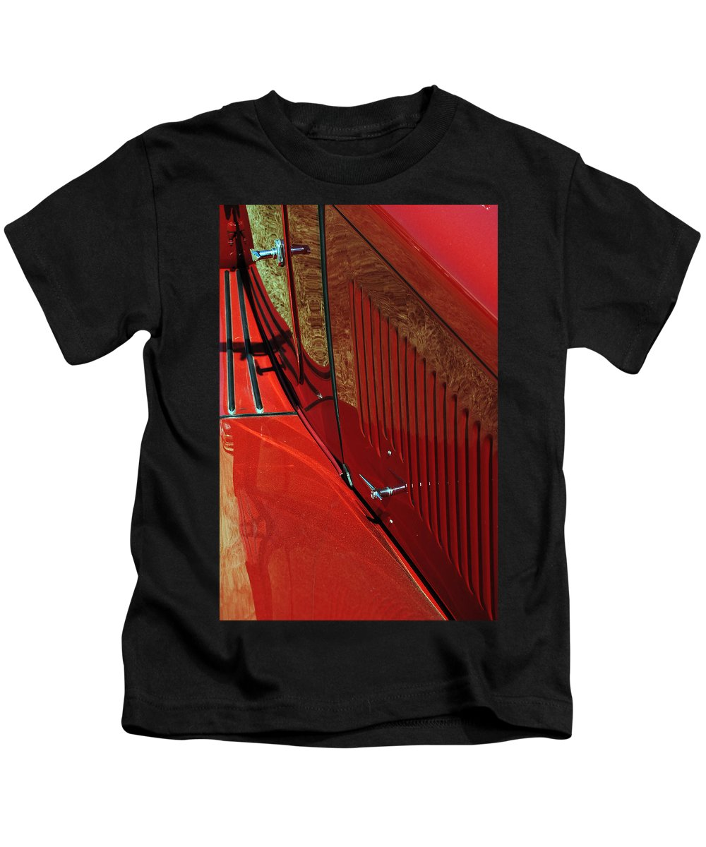 Red Kids T-Shirt featuring the photograph 49 Mg Tc by Skip Willits