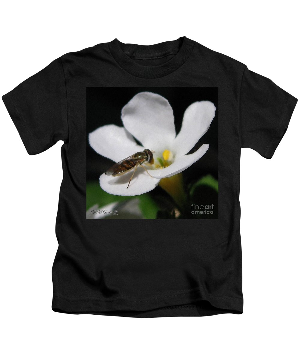 Bacopa Kids T-Shirt featuring the painting Bacopa Named Snowtopia by J McCombie