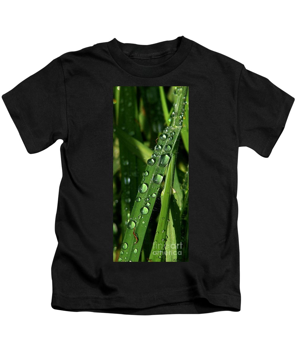 Rain Kids T-Shirt featuring the photograph Raindrops by Carol Lynch