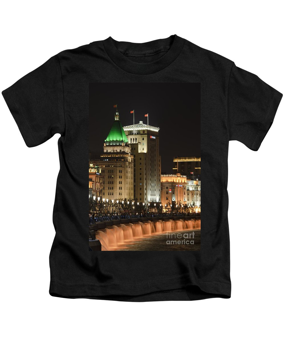 Asia Kids T-Shirt featuring the photograph The Bund, Shanghai by John Shaw