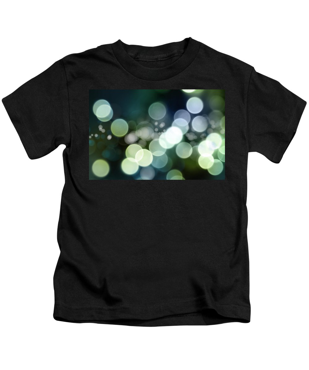 Green Kids T-Shirt featuring the photograph Abstract Background by Les Cunliffe