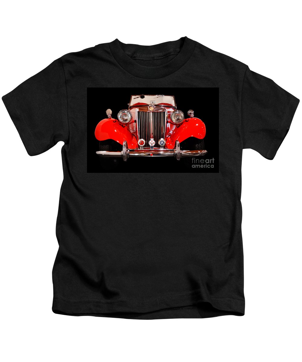 Mg Kids T-Shirt featuring the photograph '52 Mg Td by Frank Larkin