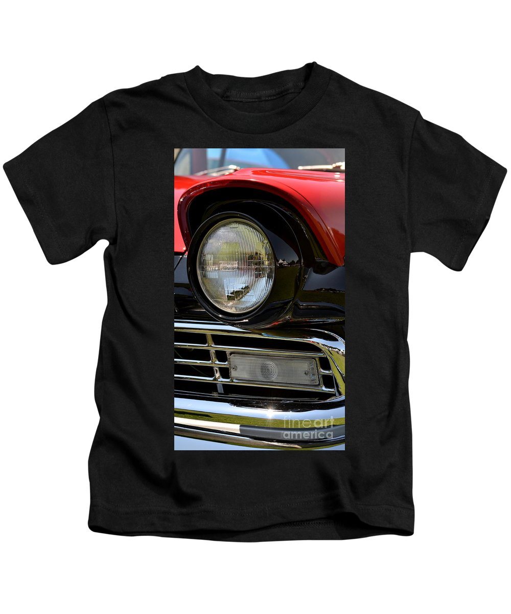 Kids T-Shirt featuring the photograph 57 Ford by Dean Ferreira
