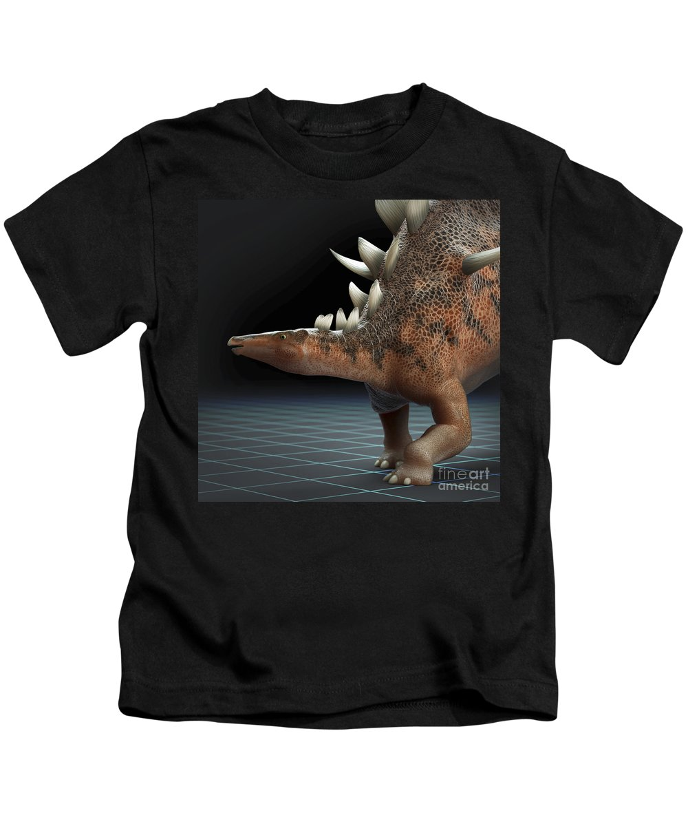 Extinction Kids T-Shirt featuring the photograph Dinosaur Kentrosaurus by Science Picture Co