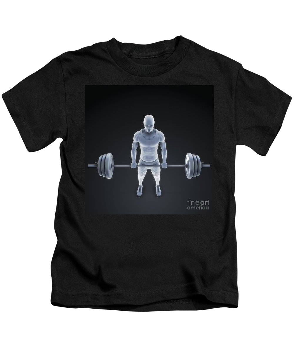 Biomedical Illustration Kids T-Shirt featuring the photograph Exercise Workout by Science Picture Co