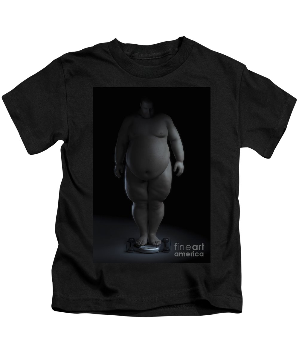 Human Kids T-Shirt featuring the photograph Obesity by Science Picture Co