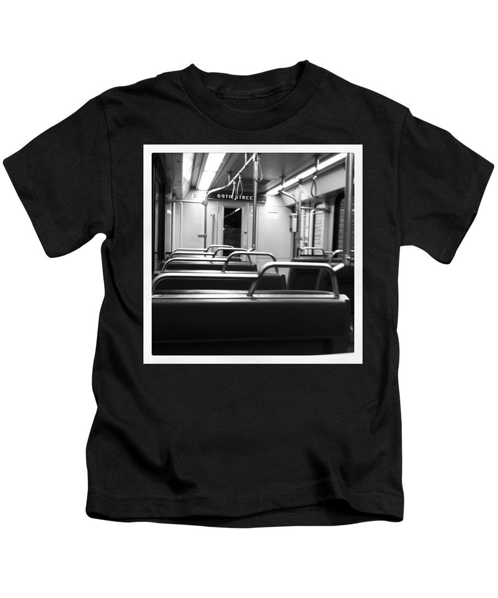 Subway Kids T-Shirt featuring the photograph 69 Street by Stephanie Bland