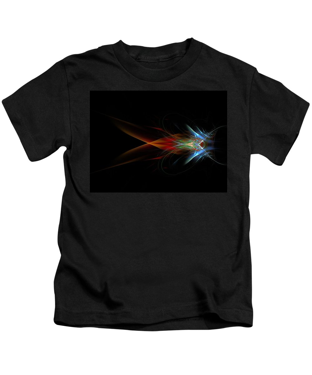 Fractal Kids T-Shirt featuring the painting What Do You See by Bruce Nutting