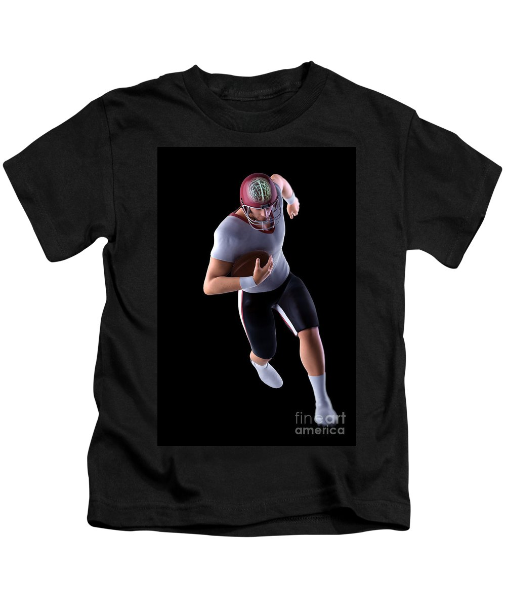 Injure Kids T-Shirt featuring the photograph American Football Player by Science Picture Co