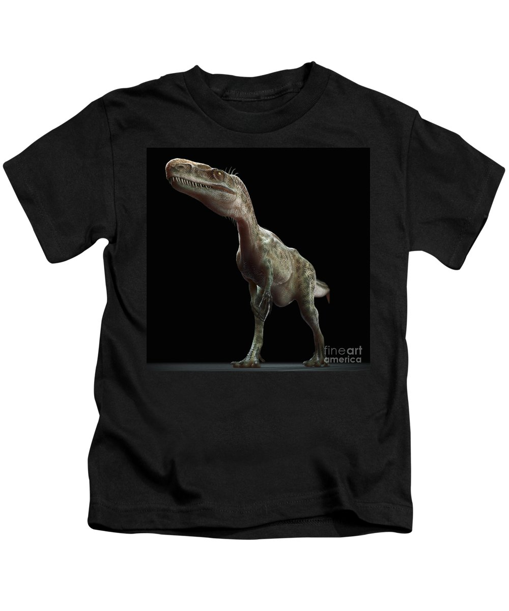 Extinction Kids T-Shirt featuring the photograph Dinosaur Monolophosaurus by Science Picture Co