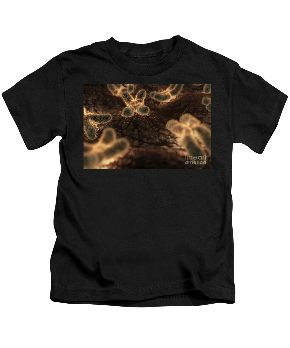 Digitally Generated Image Kids T-Shirt featuring the photograph Human Chromosomes by Science Picture Co