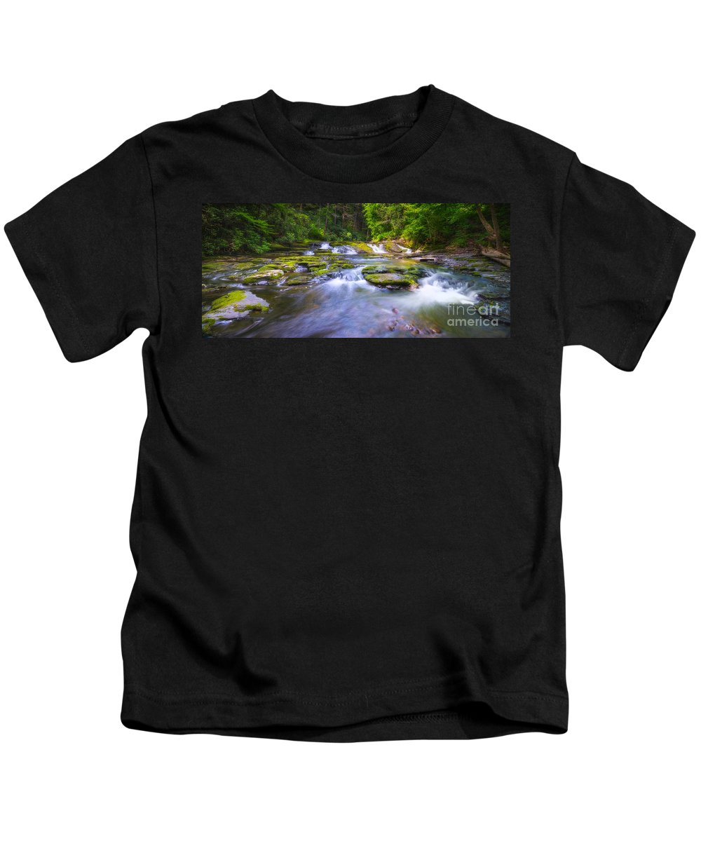 Off The Beaten Path Kids T-Shirt featuring the photograph A Dream In The Stream by Michael Ver Sprill