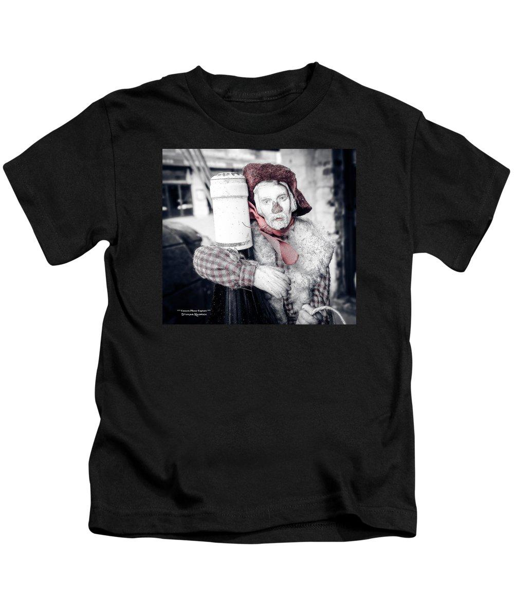Mobile Phone Capture Kids T-Shirt featuring the photograph A Drunk Puppet Life by Stwayne Keubrick