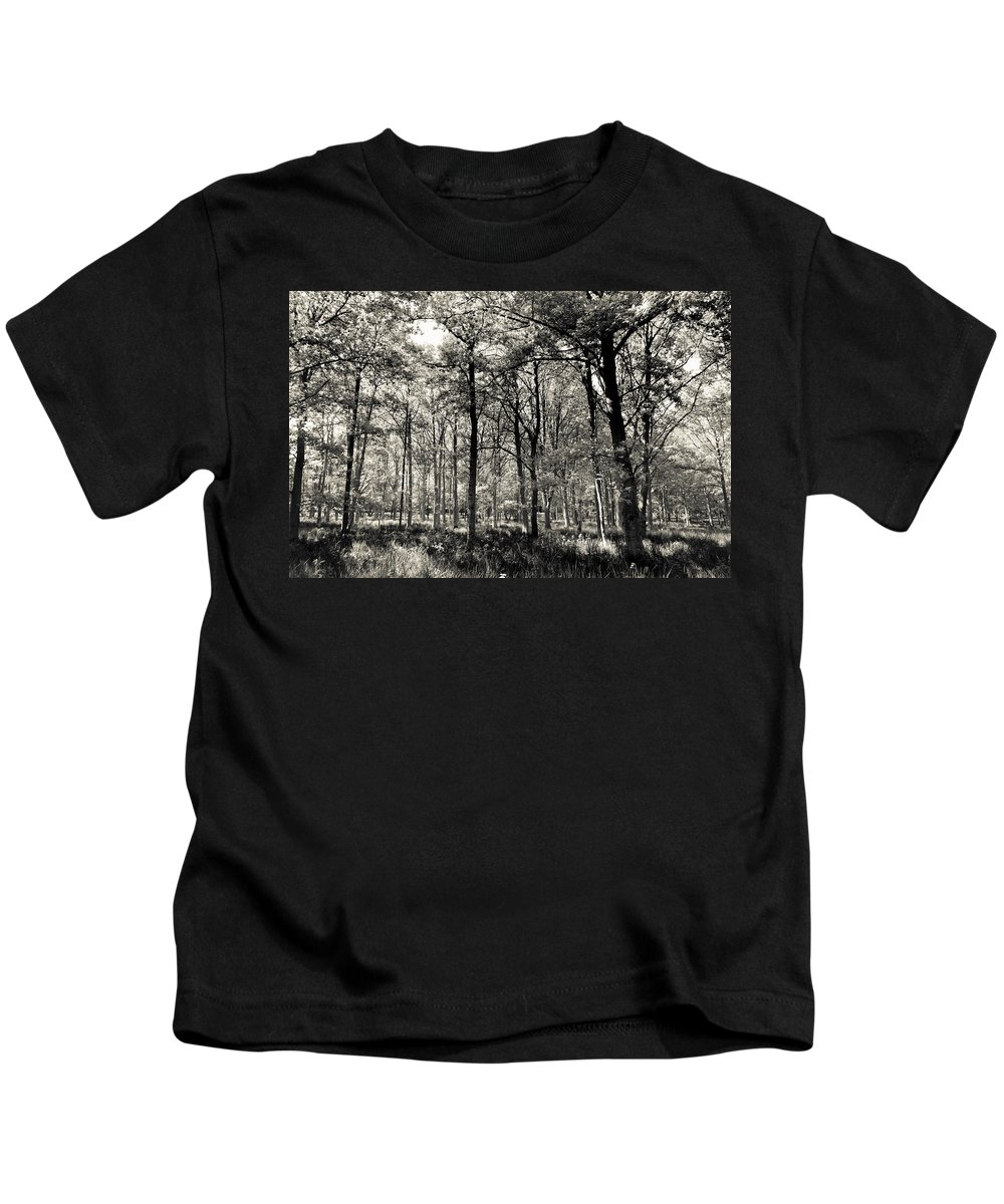 Tree Kids T-Shirt featuring the photograph A English Forest by David Pyatt
