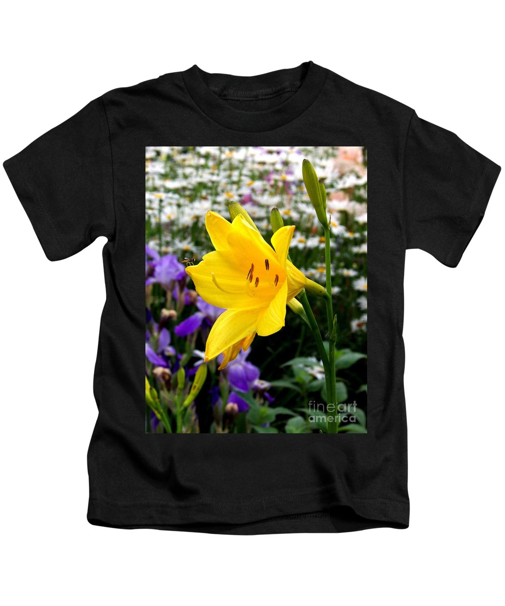 Lily Kids T-Shirt featuring the photograph A Fly In The Ointment by Kathy McClure
