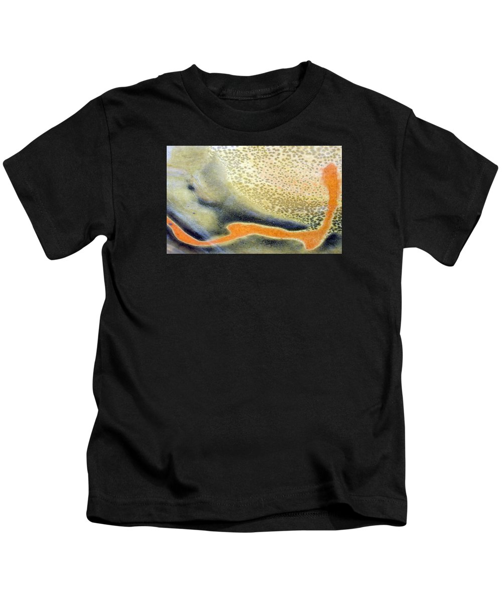 Ceramics Kids T-Shirt featuring the photograph A Gift From The Fire by Bill Morgenstern
