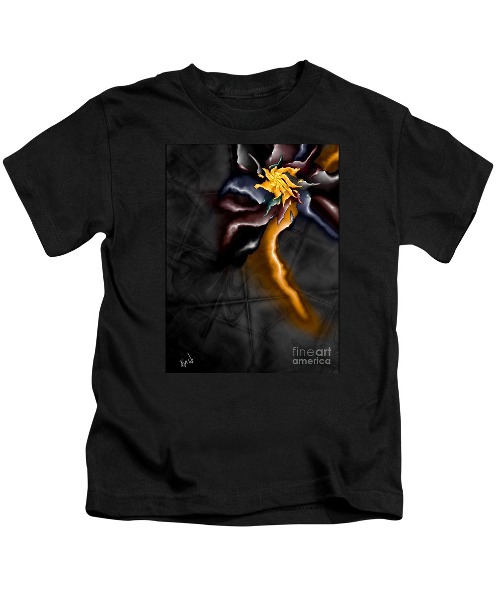 A Journey Within Kids T-Shirt featuring the digital art A Journey Within by Kimberly Hansen