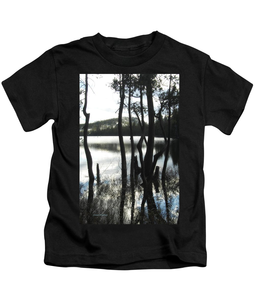 Lake Kids T-Shirt featuring the photograph A Little Blue by Donna Blackhall