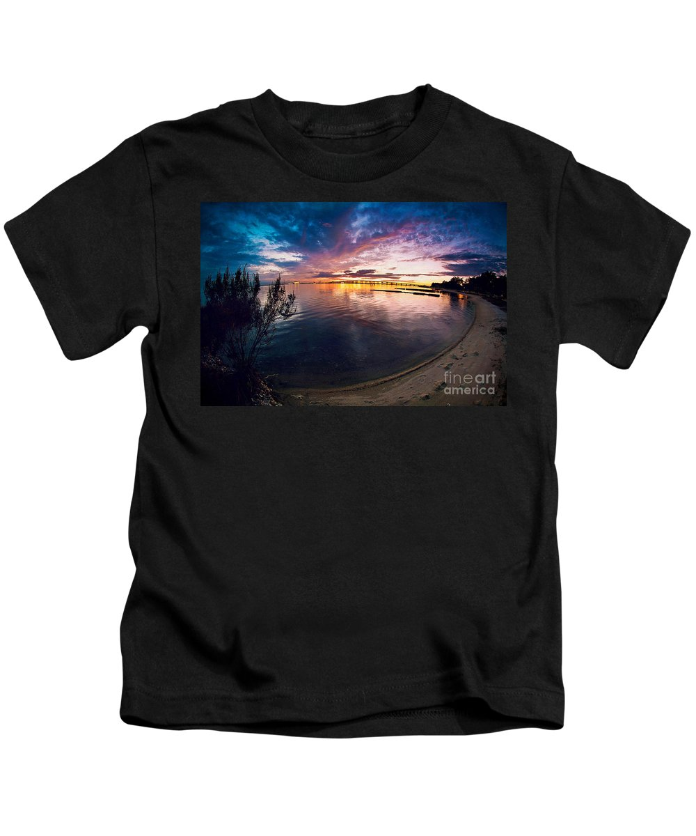 Beach Kids T-Shirt featuring the photograph A Moment In Time by Joan McCool