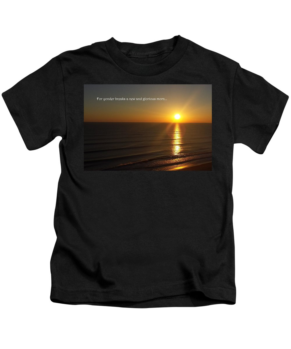 Sunrise Kids T-Shirt featuring the photograph A New And Glorious Morn by Charlotte Stevenson