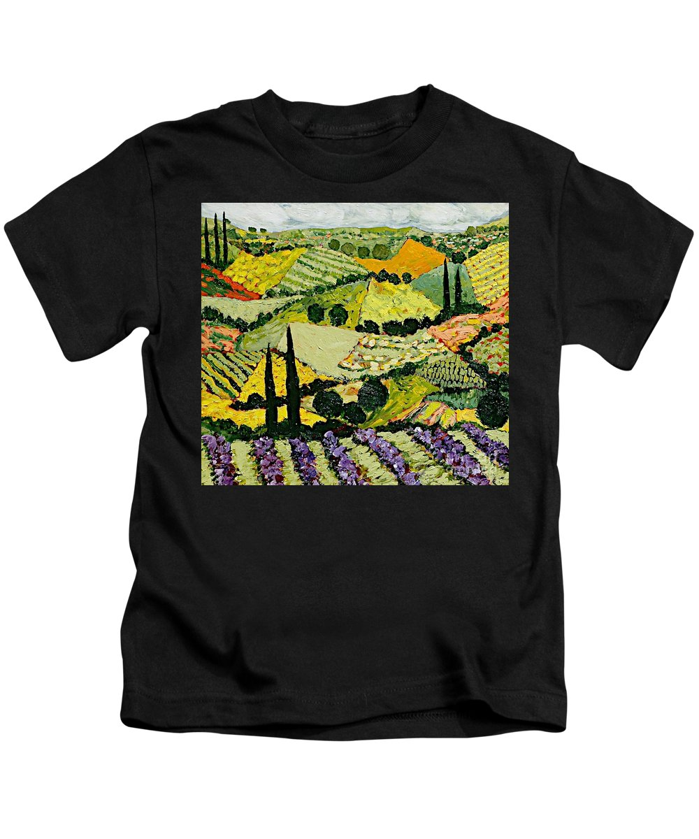 Landscape Kids T-Shirt featuring the painting A New Season by Allan P Friedlander