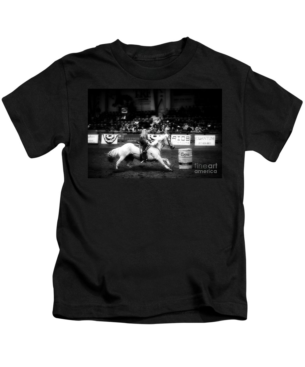 Night Kids T-Shirt featuring the photograph A Night At The Rodeo V33 by Douglas Barnard