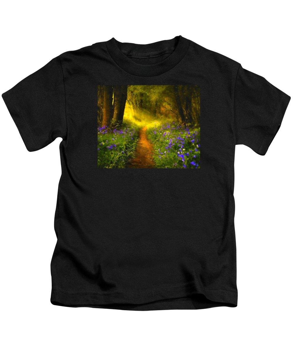 Impressionism Kids T-Shirt featuring the digital art A Place In The Sun - Impressionism by Georgiana Romanovna