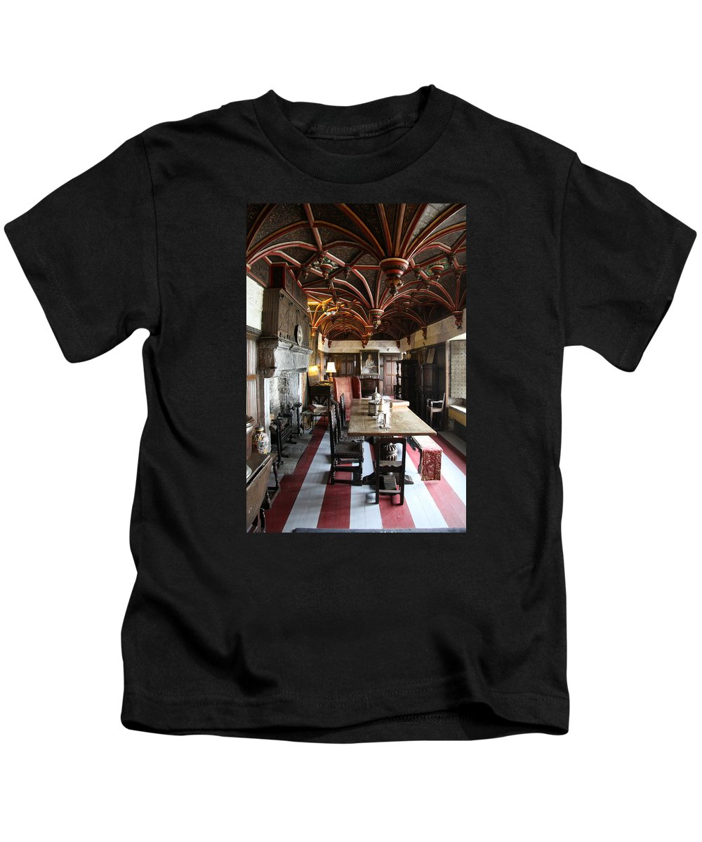 Room Kids T-Shirt featuring the photograph A Room In Bunratty Castle by Christiane Schulze Art And Photography