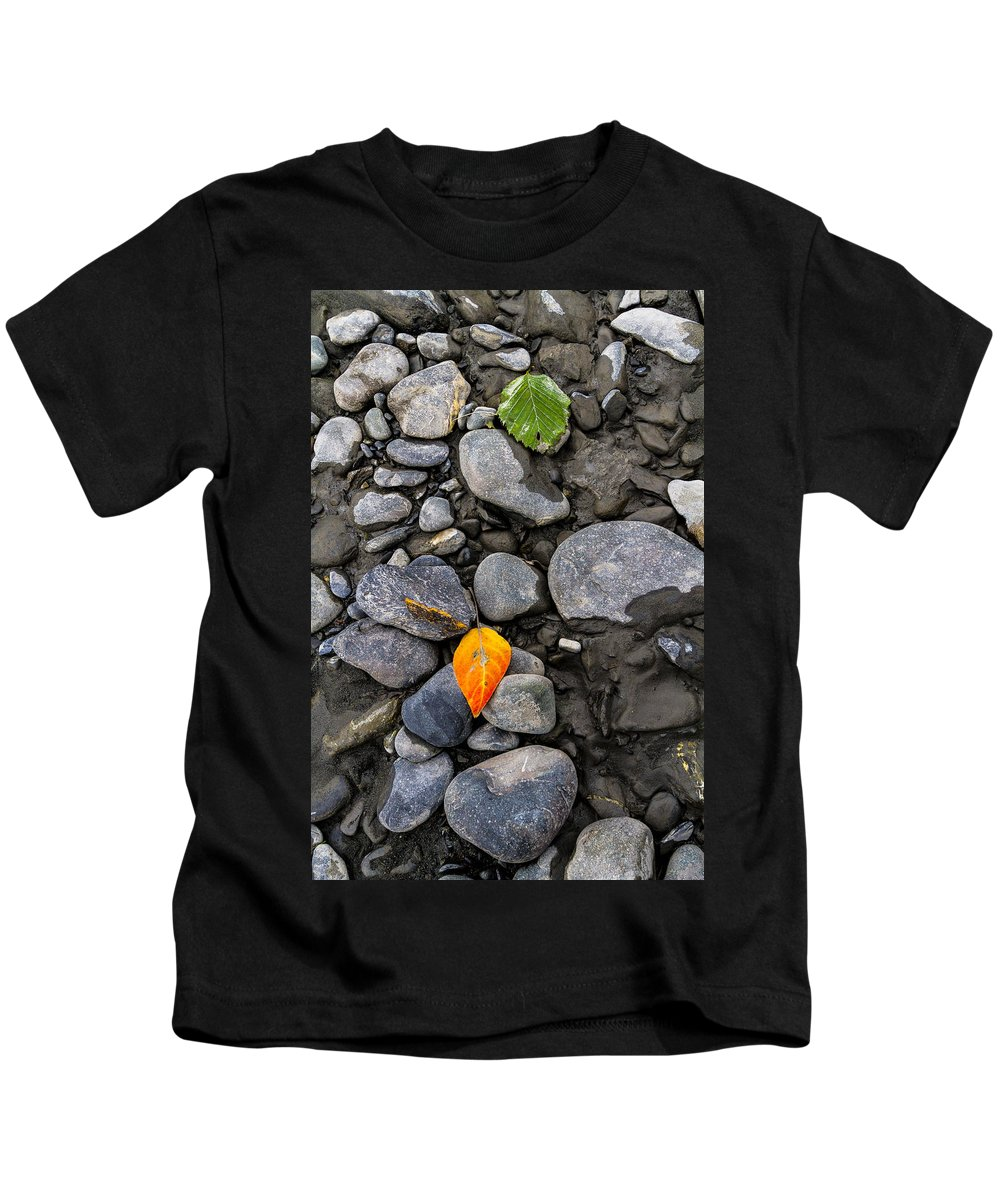 Landscape Kids T-Shirt featuring the photograph A Sign Of Fall by Kyle Lavey