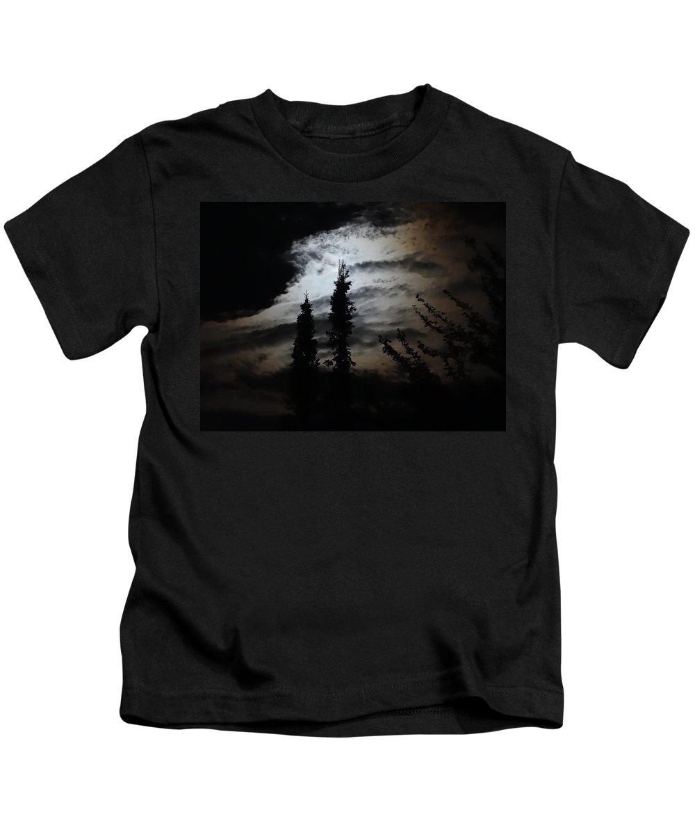 Moon Kids T-Shirt featuring the photograph A Storm's Comin by Mary Vinagro