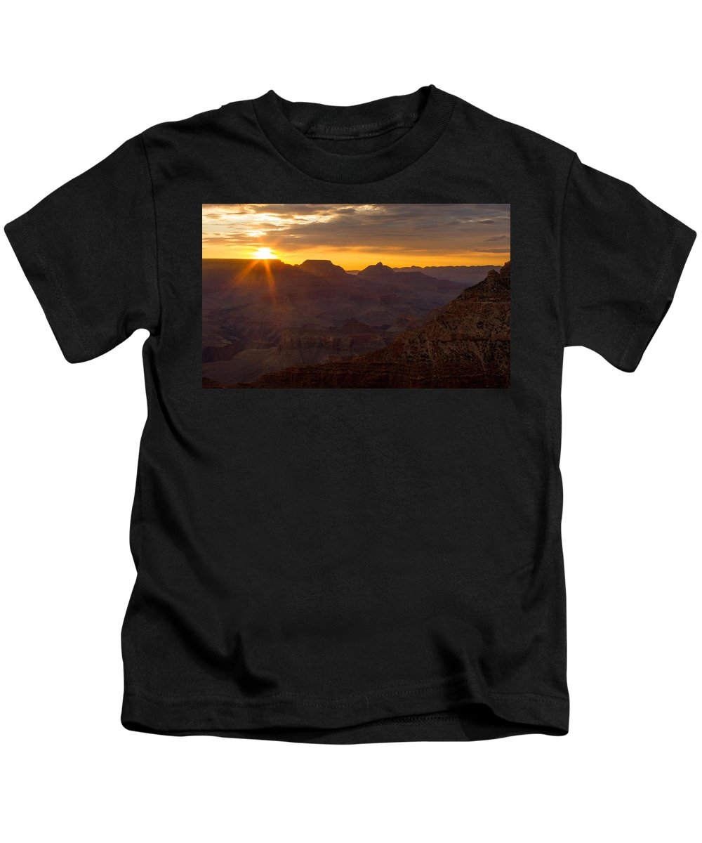 Grand Canyon Kids T-Shirt featuring the photograph A Sun Like A Star by Kathleen Odenthal