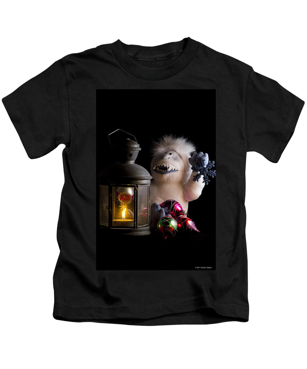 Christmas Kids T-Shirt featuring the photograph Abominable Christmas by Scott Wyatt