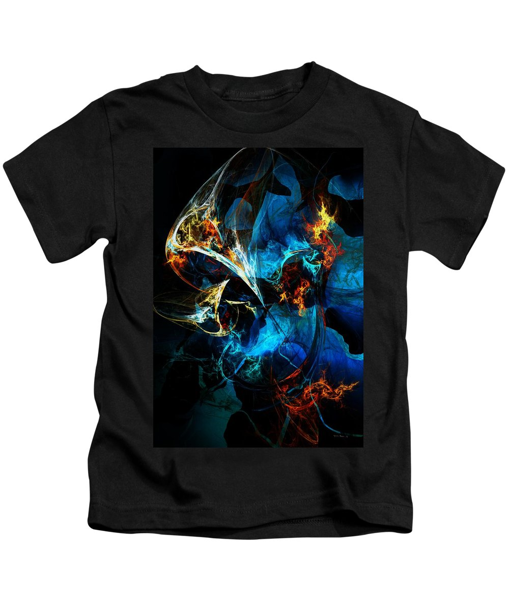 Abstract Kids T-Shirt featuring the digital art Abstract 080613 by David Lane