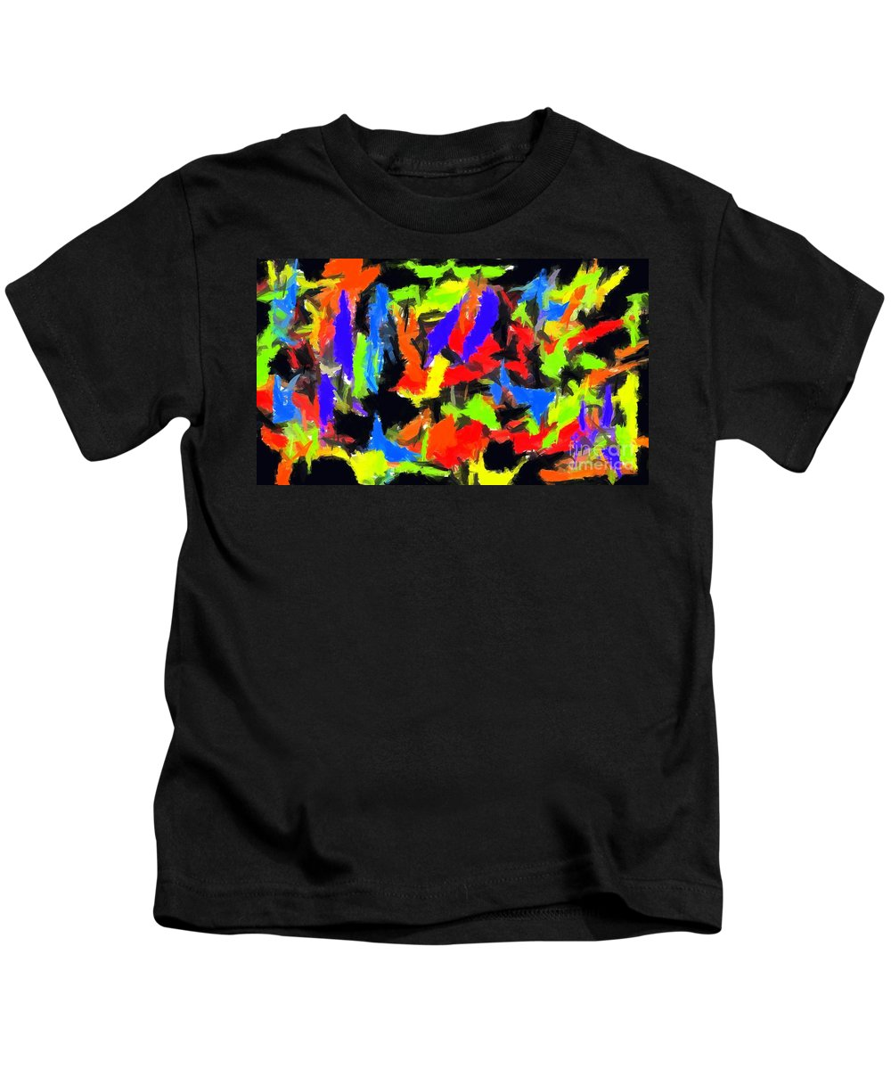 Abstract Kids T-Shirt featuring the digital art Abstract 1 by Chris Butler