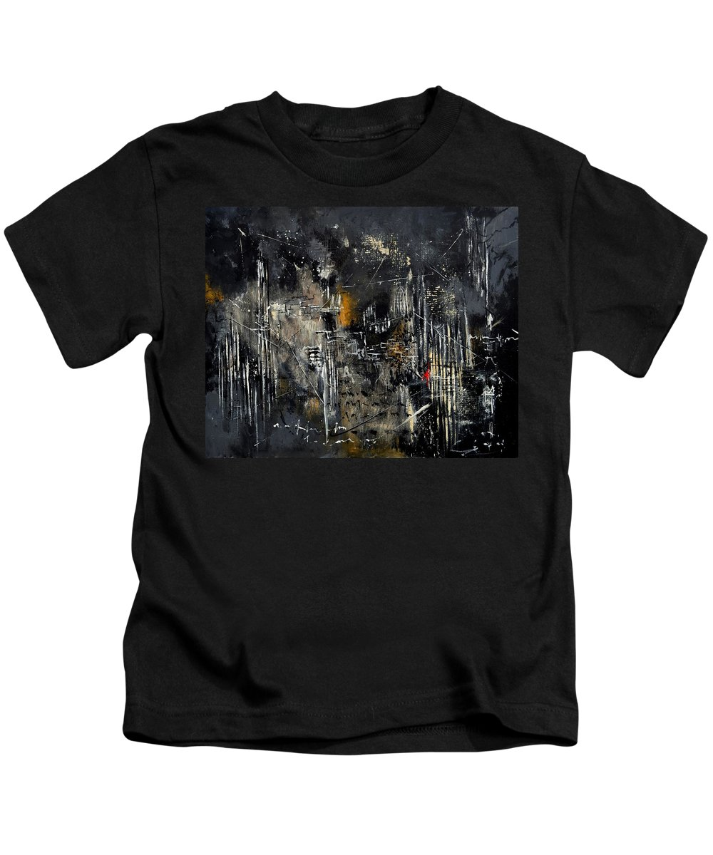 Abstract Kids T-Shirt featuring the painting Abstract 184150 by Pol Ledent